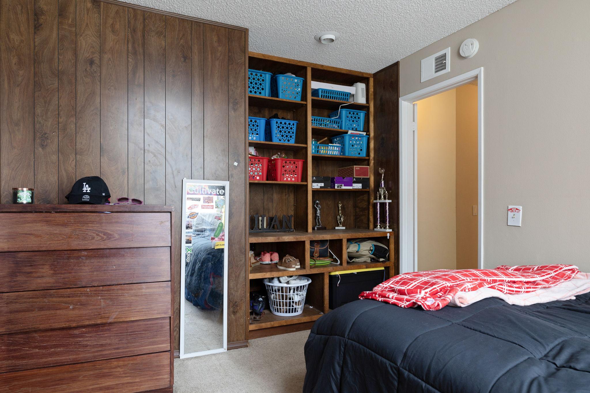 Built-ins in bedroom
