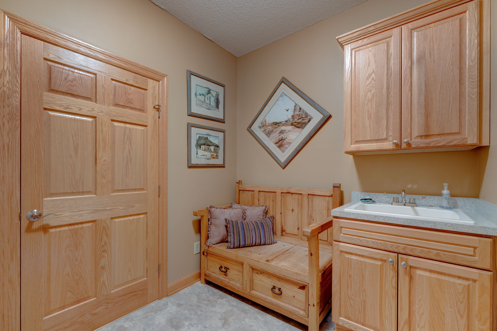 Nice sized mudroom with additional storage