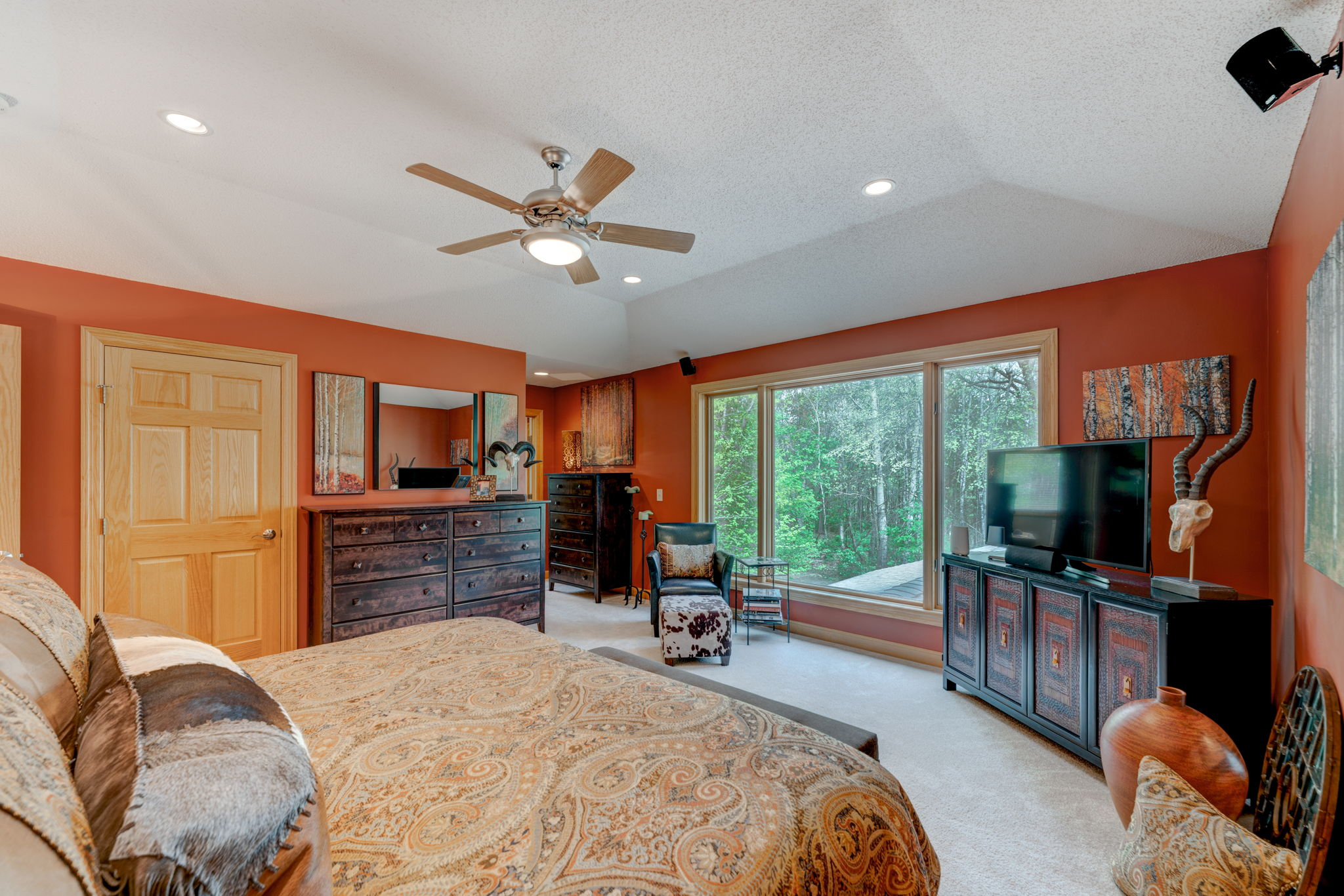 Master Suite Overlooking Wooded Lot