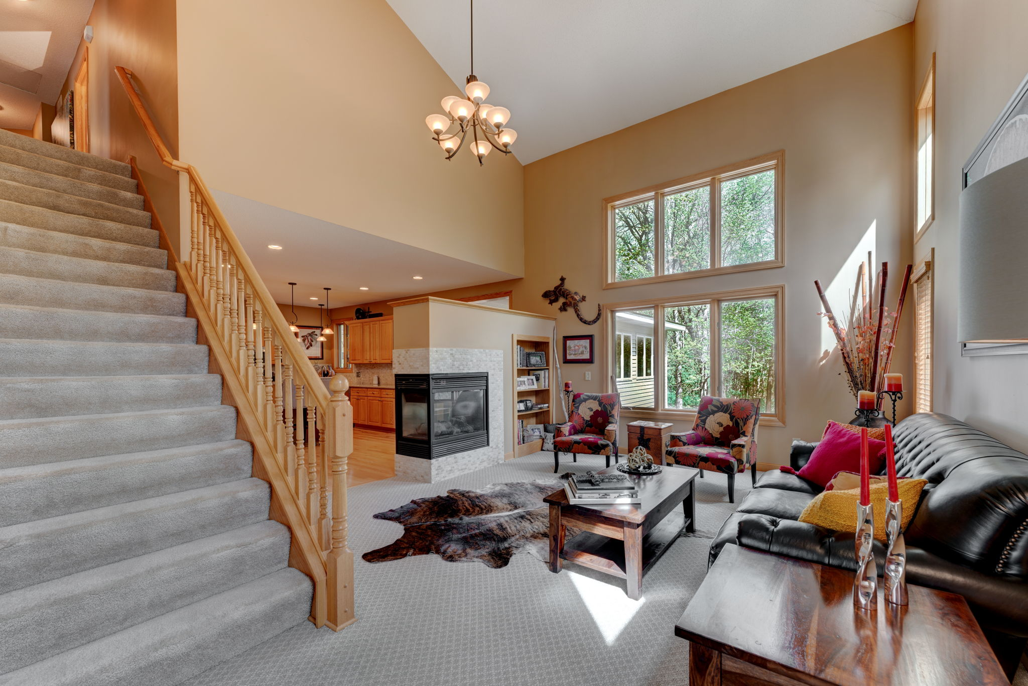 Great Room with vaulted ceiling