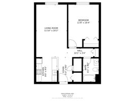 1 Bedroom With Dimensions