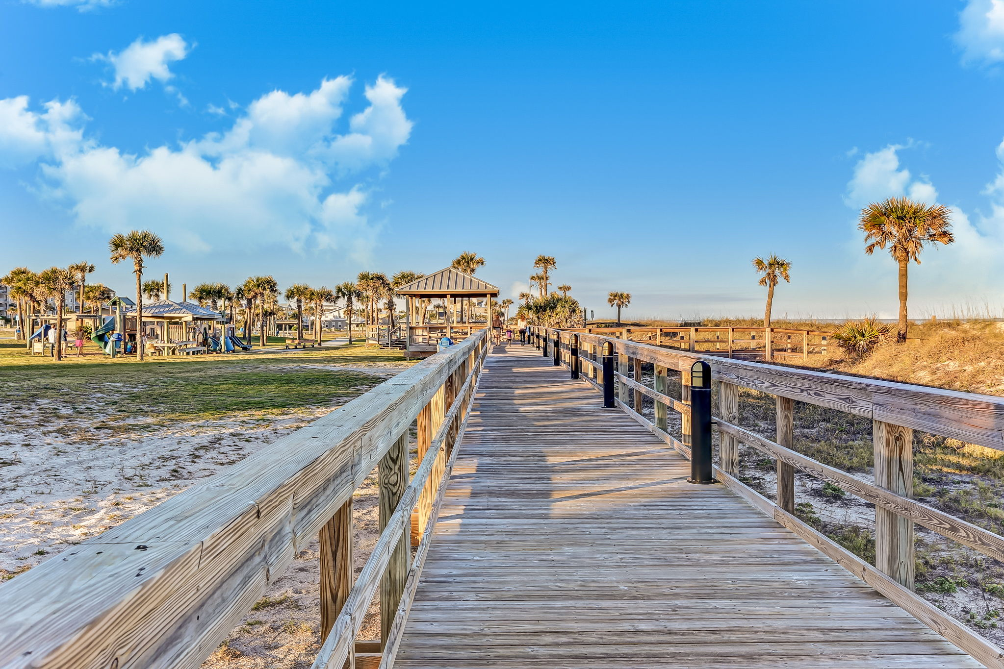 The pristine beaches of Amelia Island, only one mile away