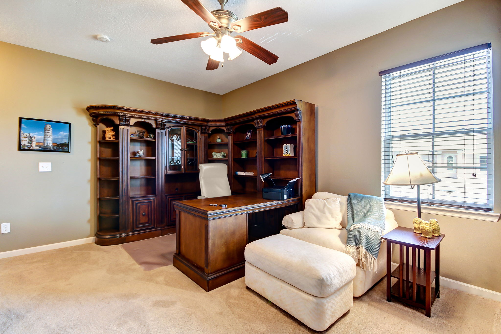 Upstairs greets you with a bonus loft, perfect for an office