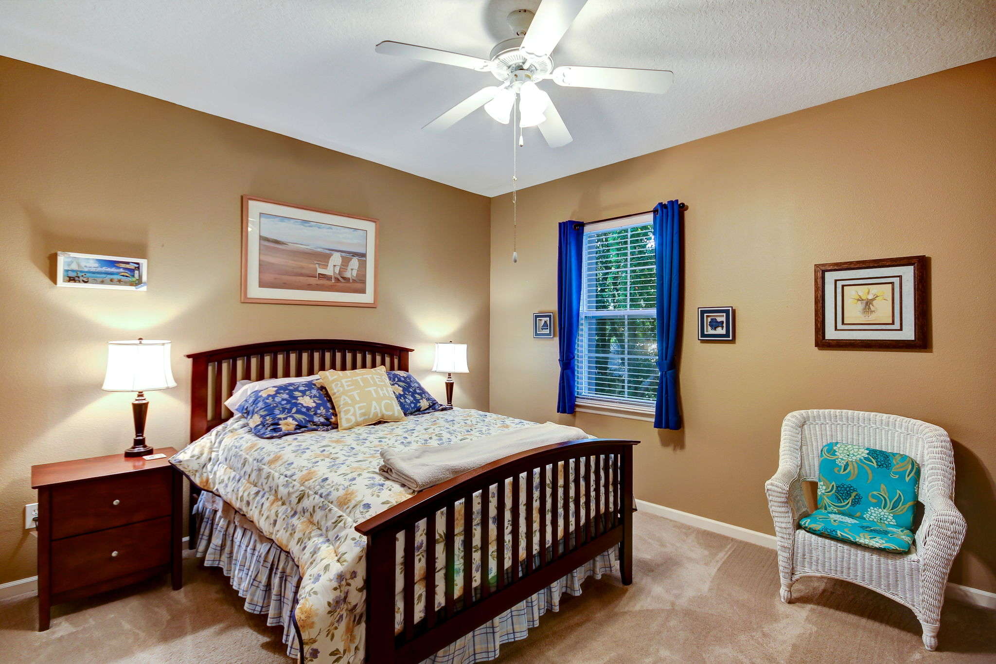 Third guest bedroom with ample room for bed, nightstands and accent decor