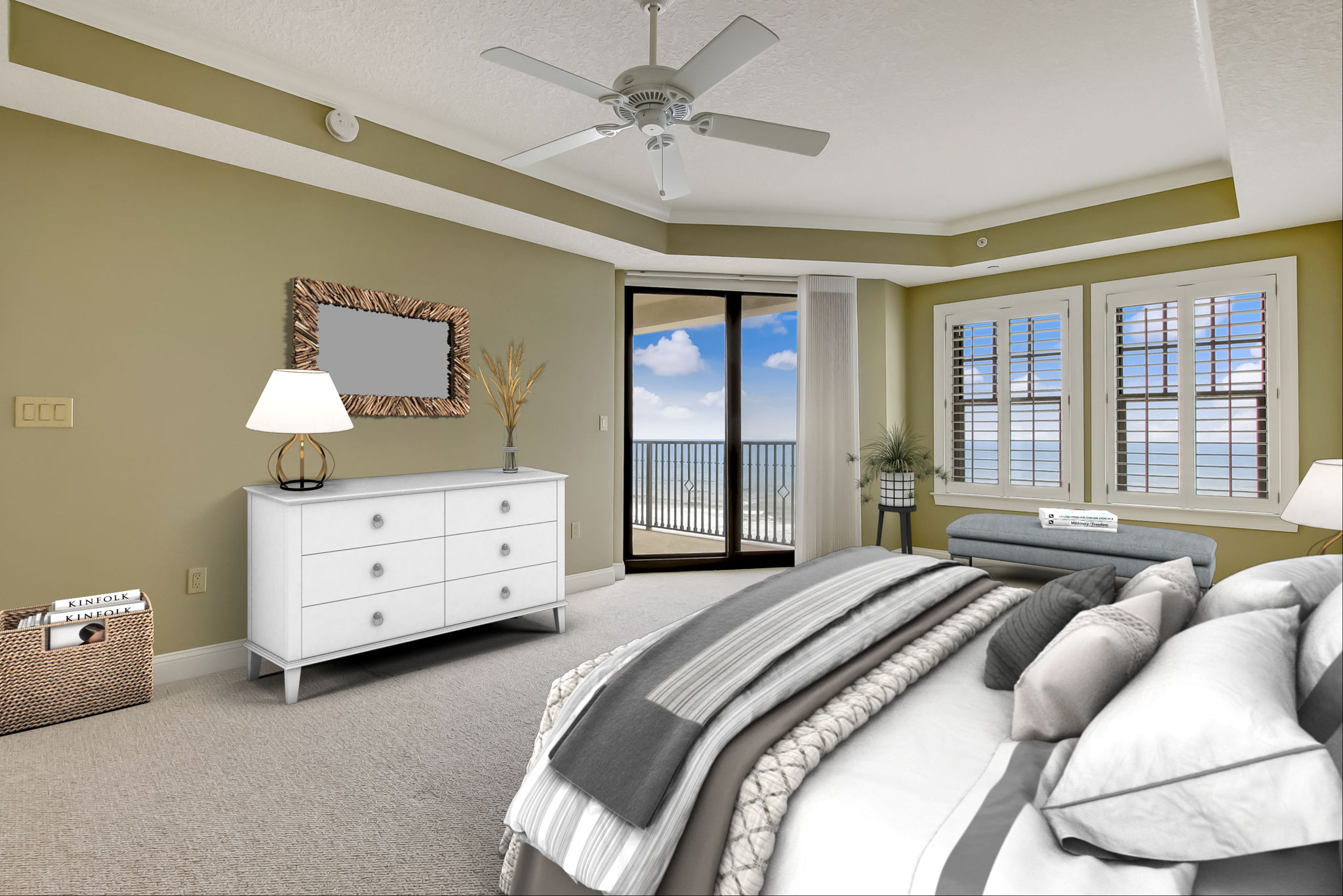 Virtually Staged Primary Bedroom