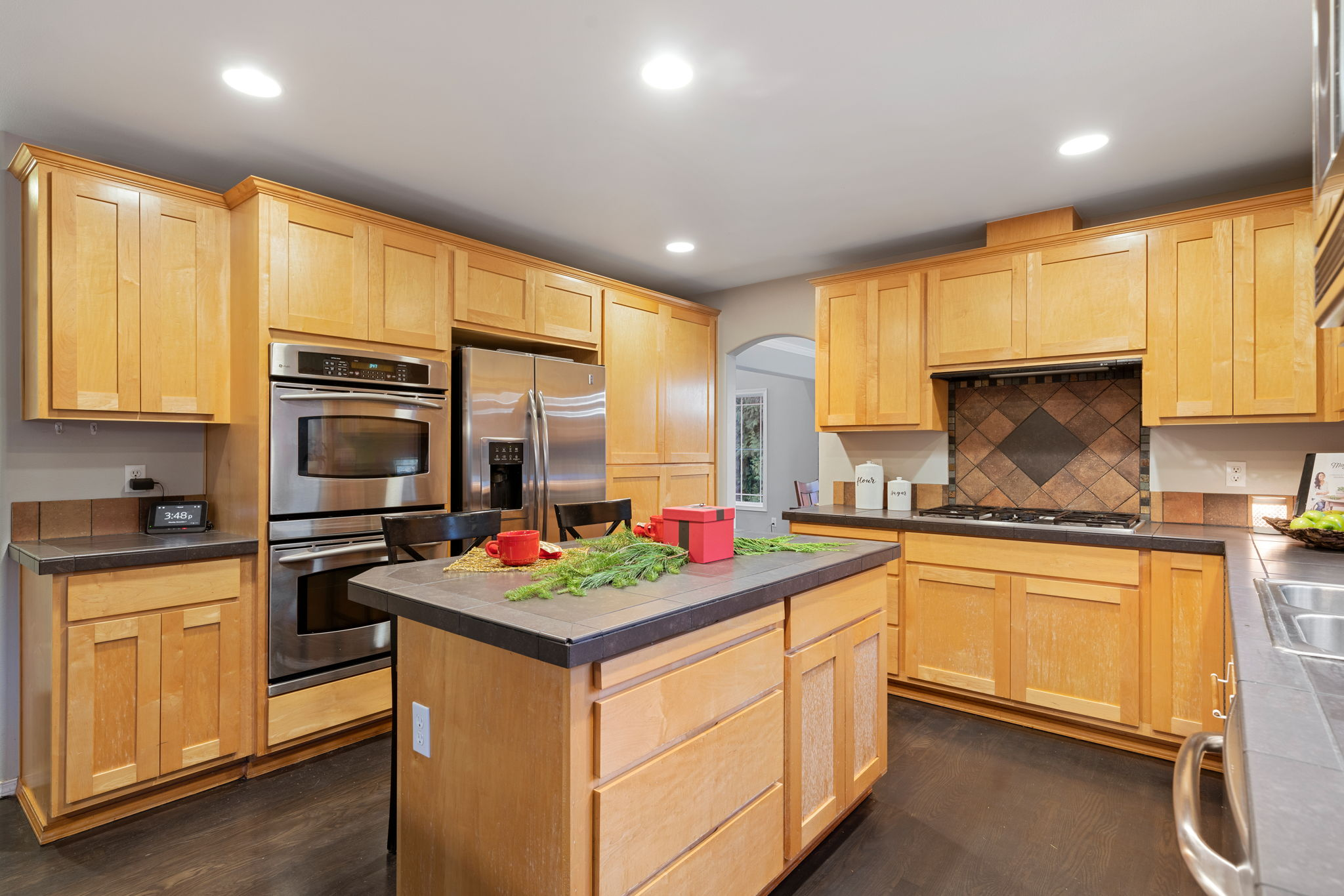 Lots of counter space and cabinets!