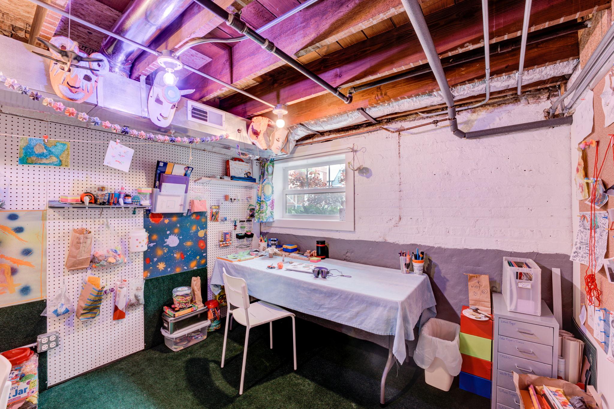 Lower Level Art Studio/Play Room