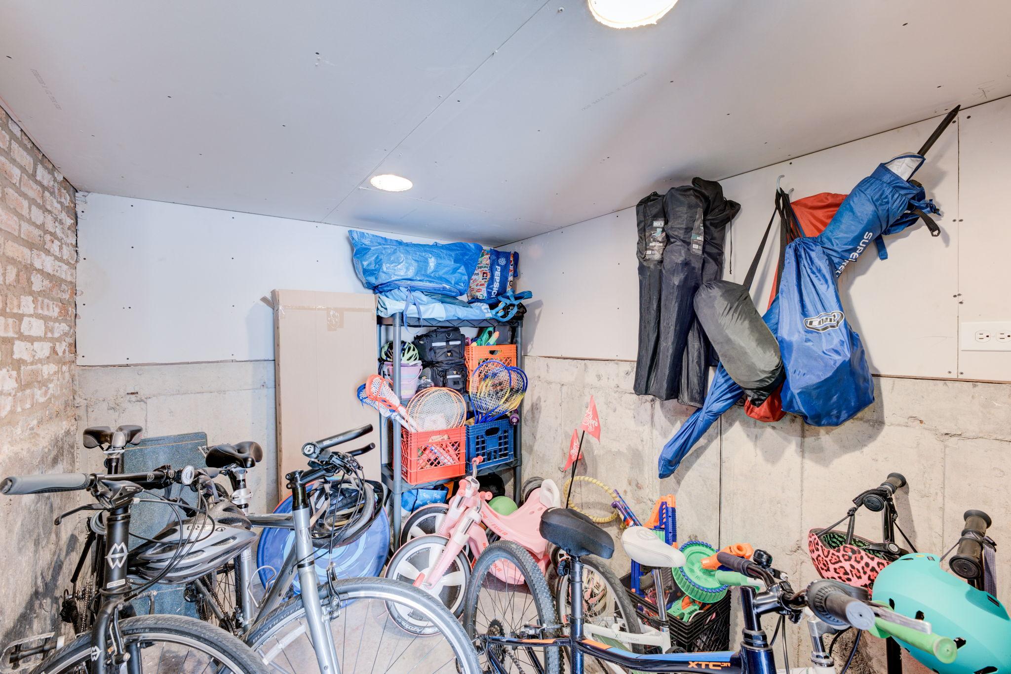 Lower Level Bike & Stroller Storage