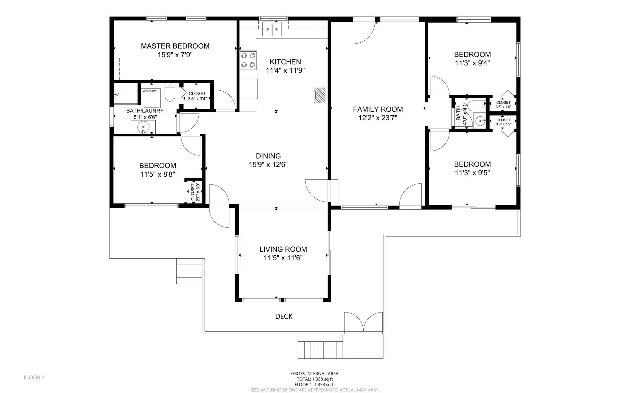 Main Cottage Floor Plans