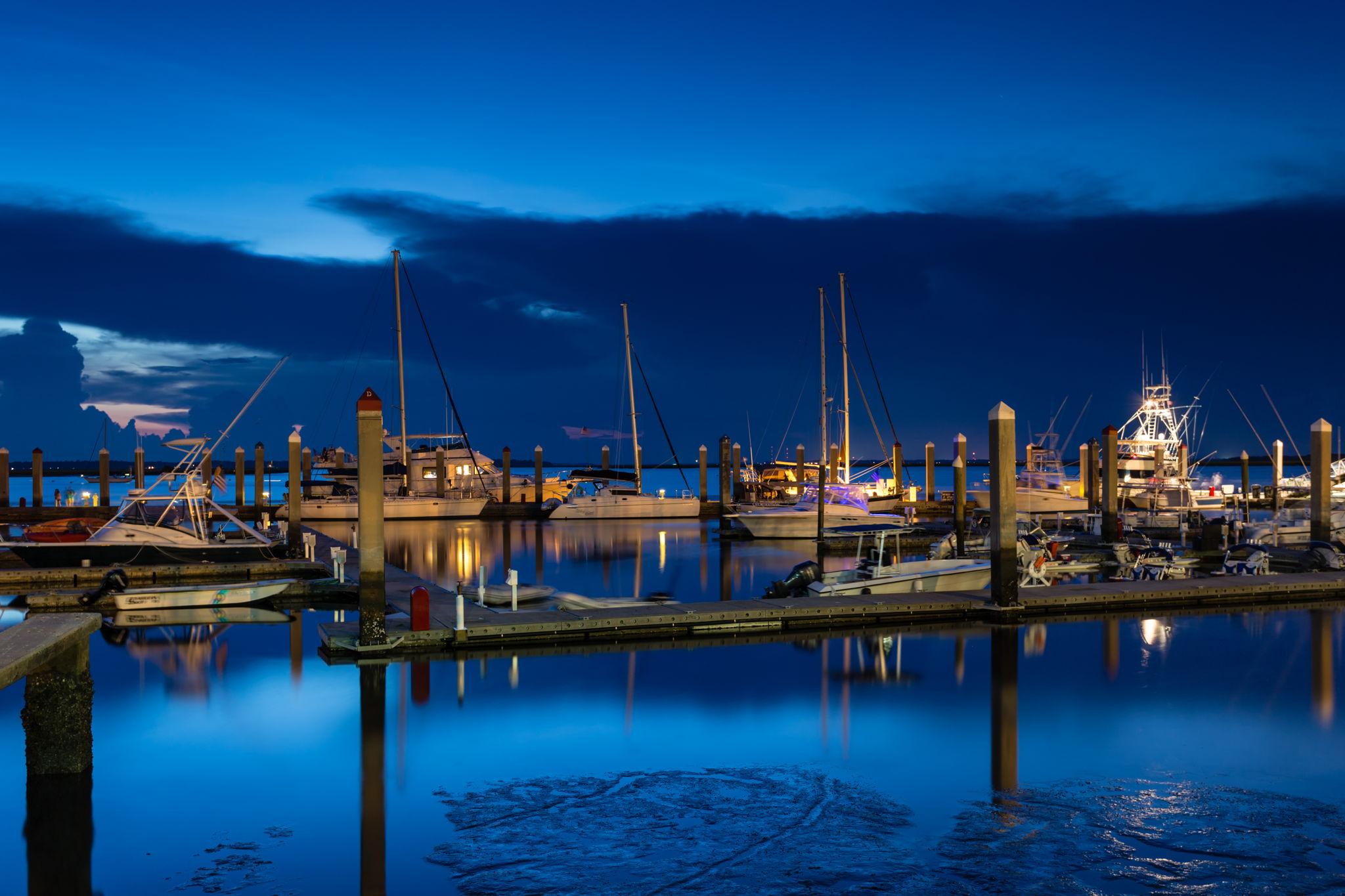 Fernandina harbor and marina, stunning day or night