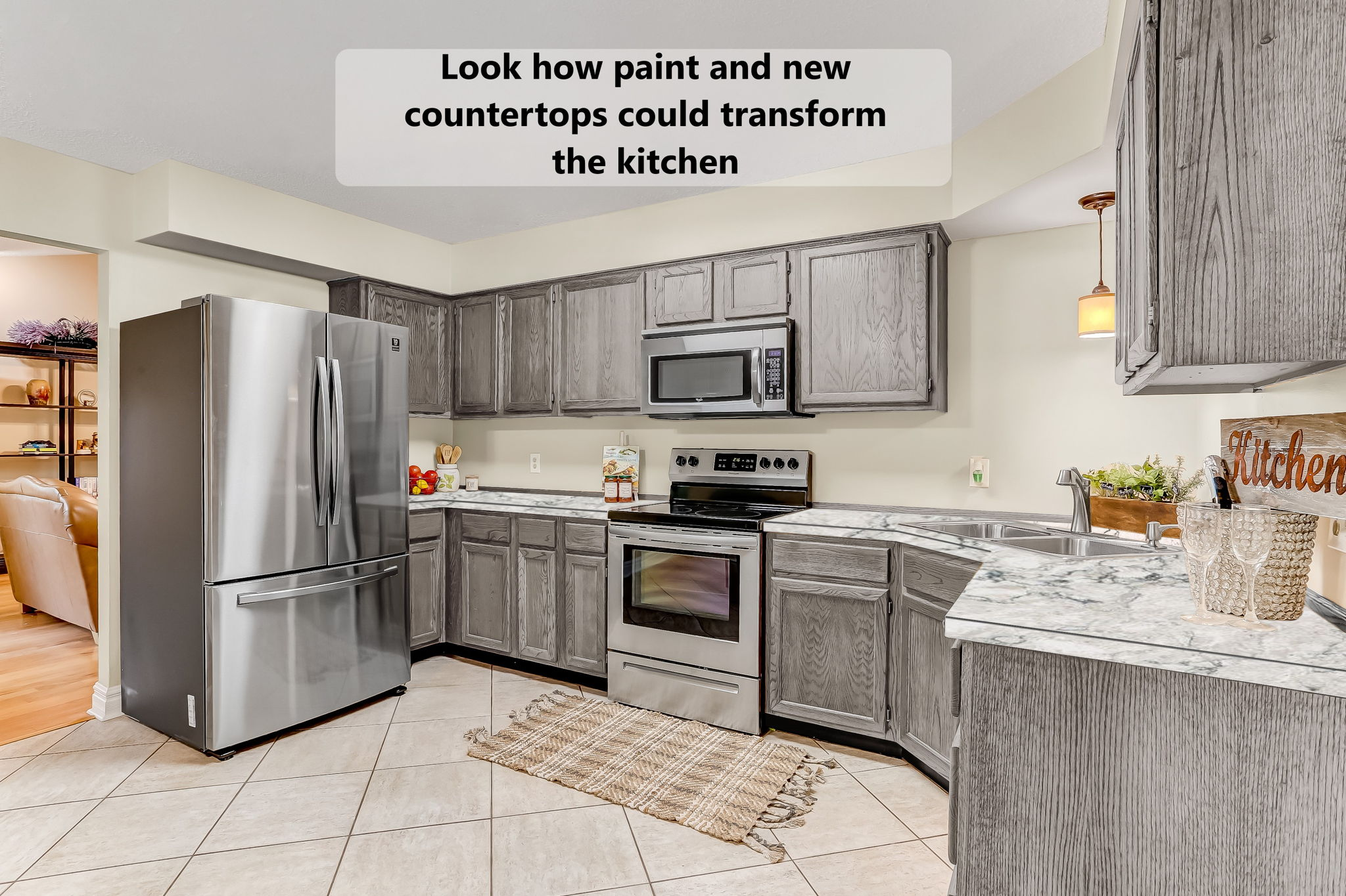 Change-up the kitchen for minimal cost