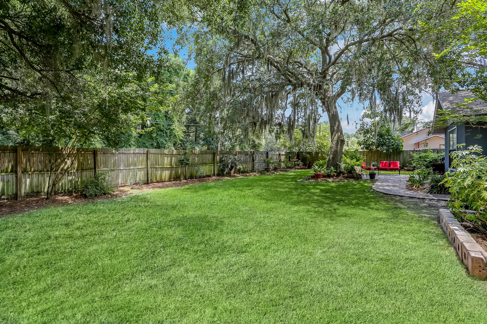 Lot is .25 acres with plenty of room for a pool!