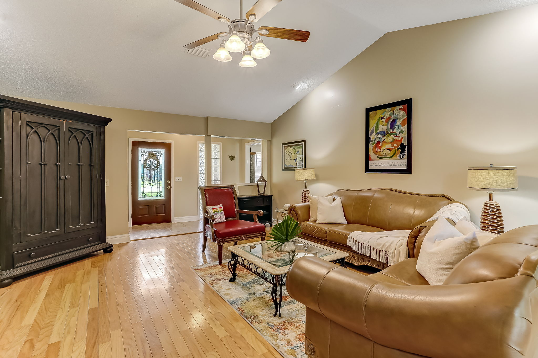 Gorgeous REAL hardwood floors throughout living area