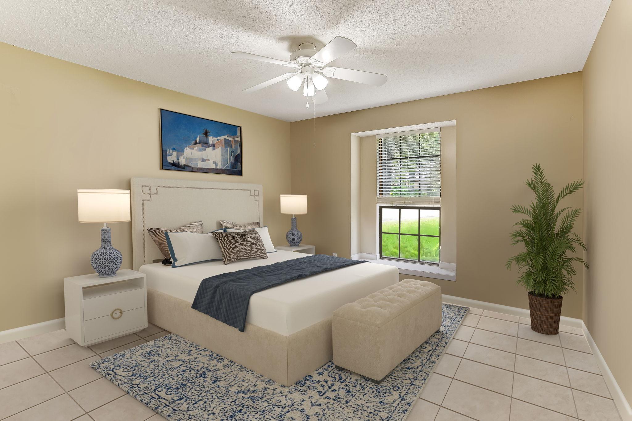 Bedroom 2, roomy and cheerful