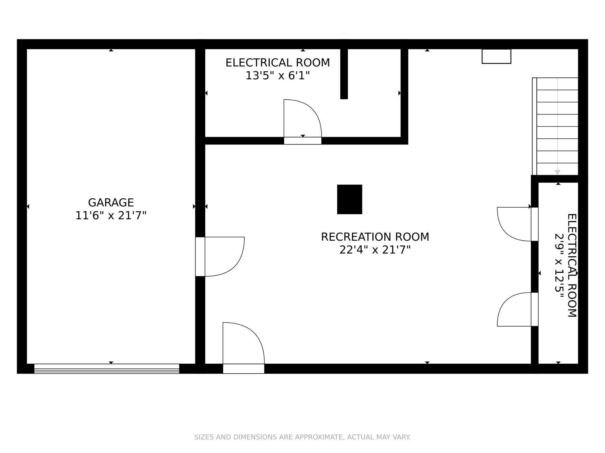 First Floor Dimensions - 4 Prescott Rd