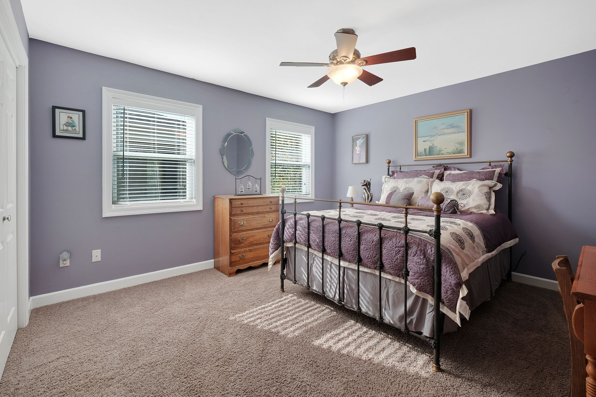 One of two Spacious Upper Bedrooms