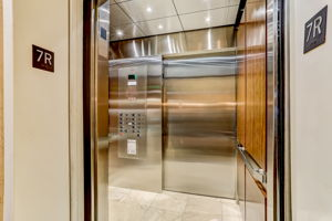 Elevator opens directly into unit