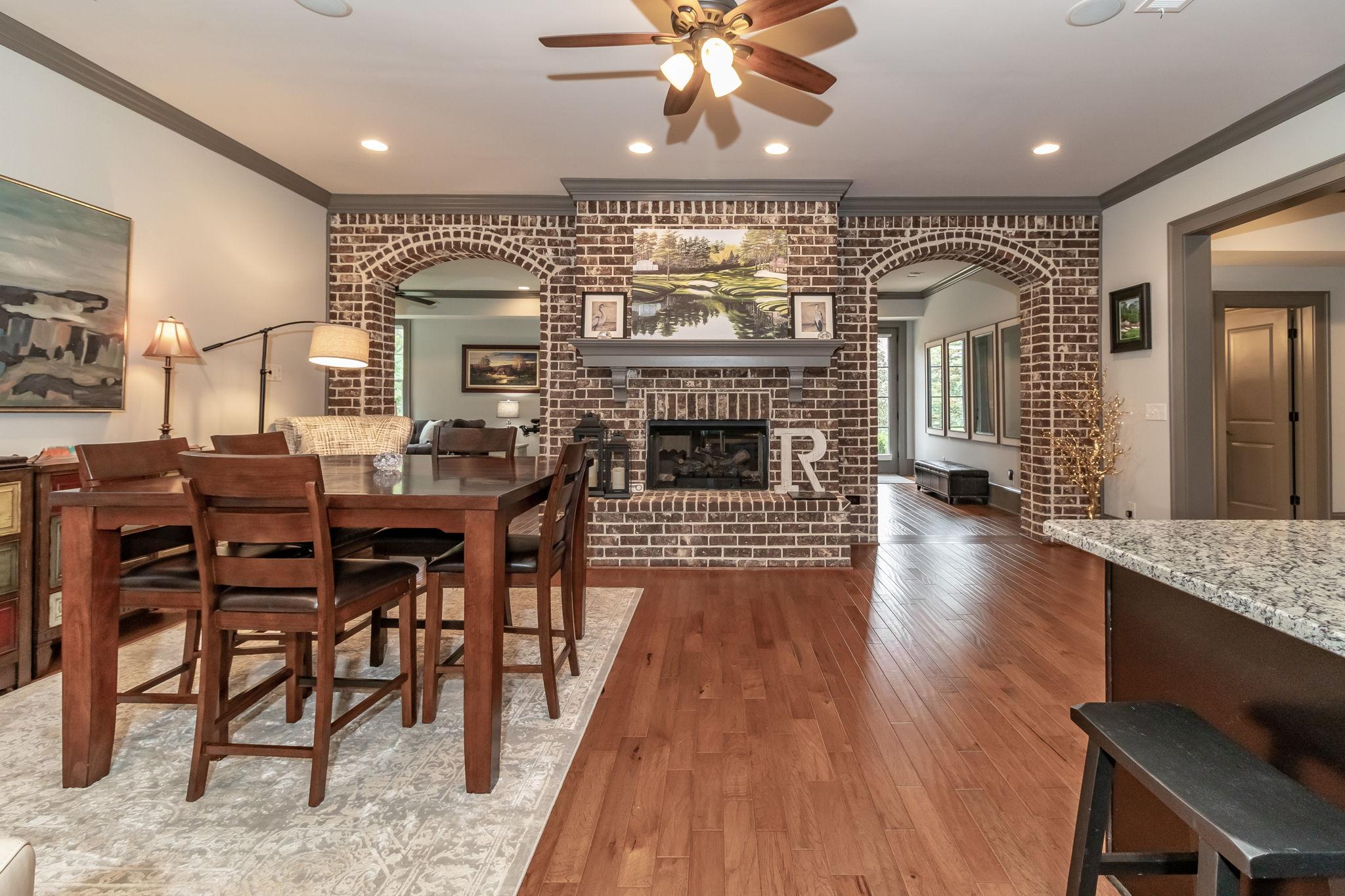 Basement - Beautiful Brick Fireplace