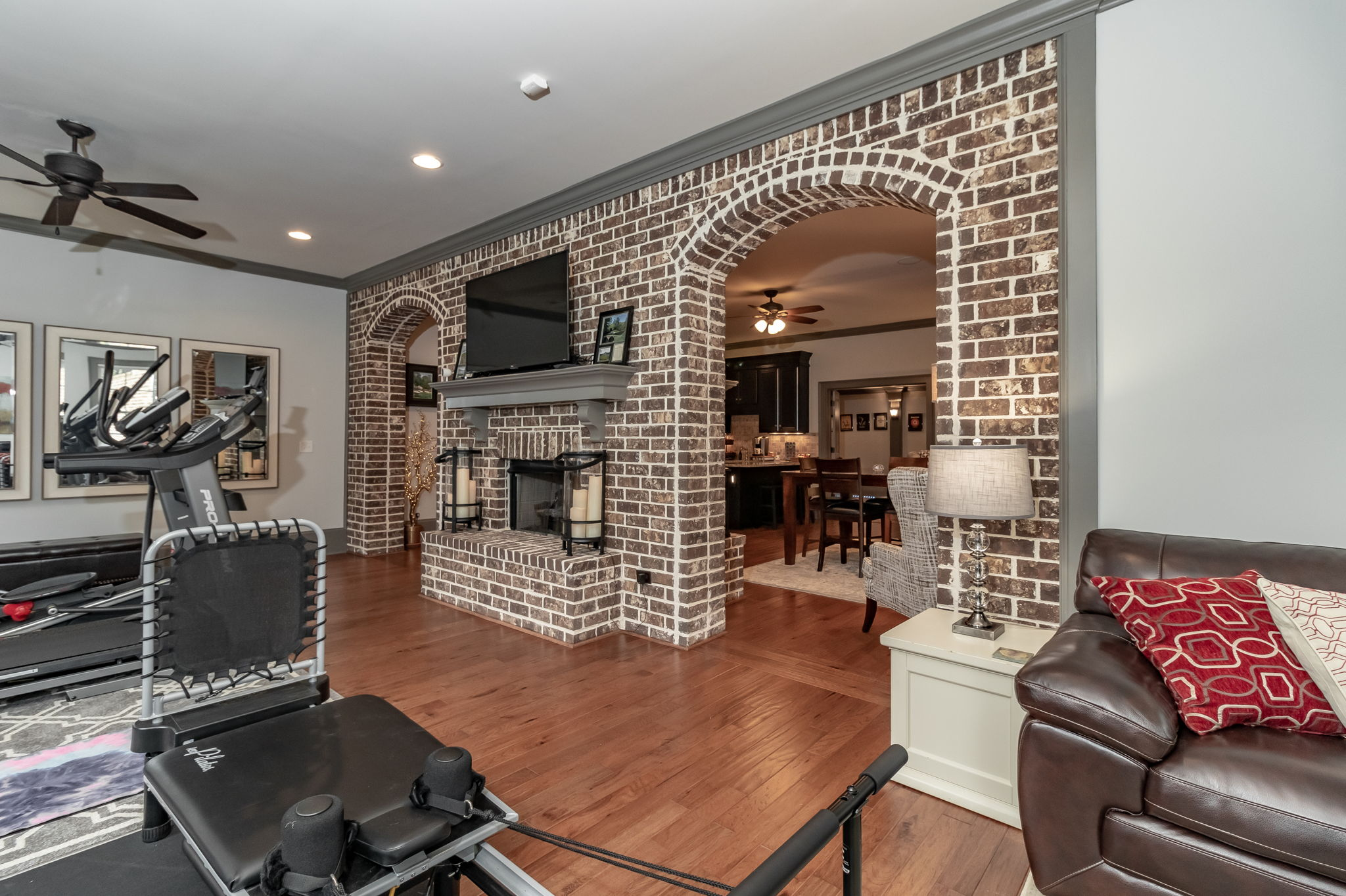 Basement - Recreation Room FirePlace