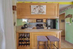 Breakfast Bar with Wine Rack