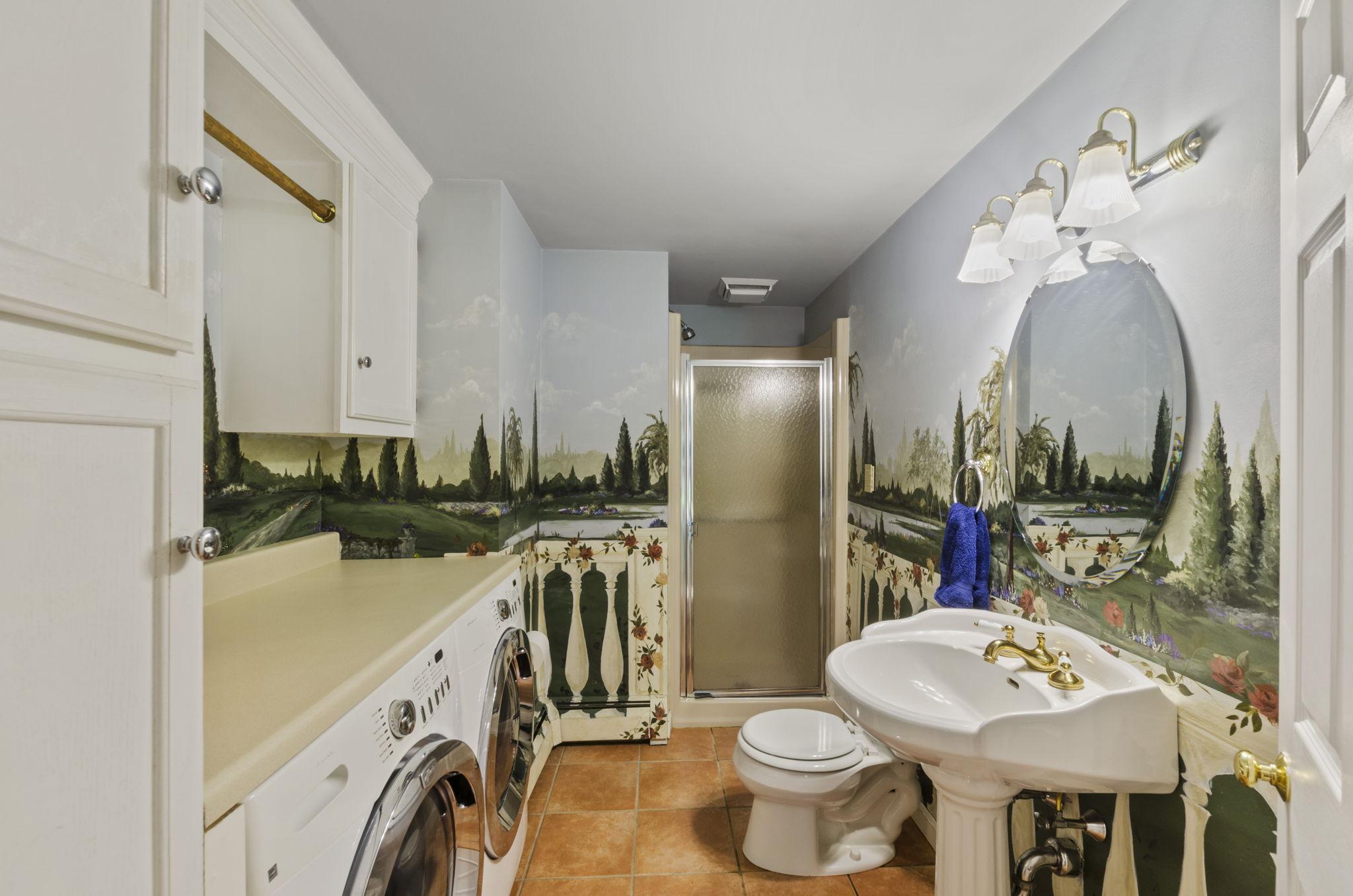 First Floor Bath & Laundry Room