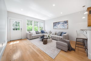 Digitally staged Living Room