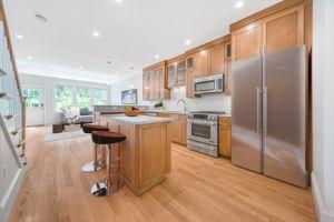 Digitally staged Kitchen